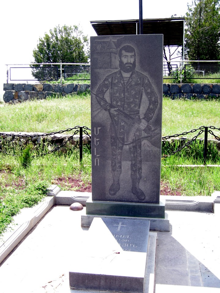 Tomb of a soldier who died in the Nagorno-Karabakh War
