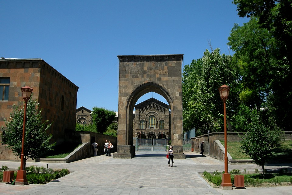 King Trdat Gate and residence of the Catholicos