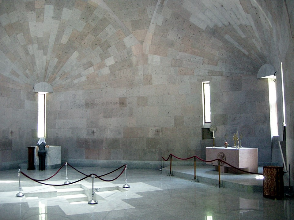 Interior of the new chapel