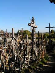 Crosses by the path