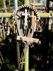 Cross hanging on a cross hanging on a cross