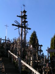 Crosses on the hillside