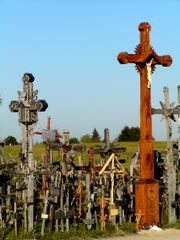 Crosses on the roadside