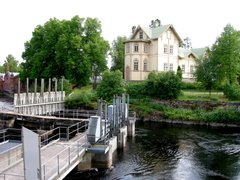 Owner's residence as seen from the river