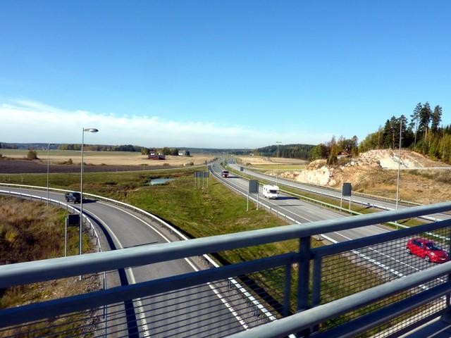 Turun moottoritie E18 lähellä Muurlaa