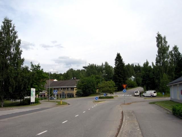 Teiden risteys Anttolan keskustassa (Mikkeli)