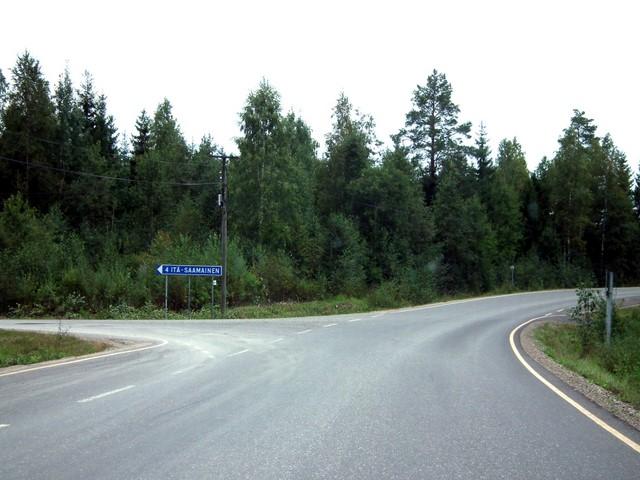 Teiden risteys Soisalossa (Itä-Saamainen, seututie 536)