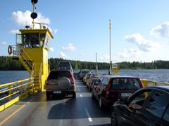 Cars on Hätinvirta ferry