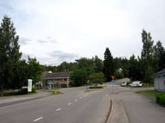 Road crossing in the village of Anttola, Mikkeli