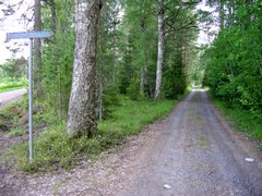 Small dirt road at Himalansaari in Ristiina