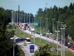 Traffic accident at Helsinki-Lahti highway in Vantaa