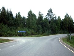 Itä-Saamainen road crossing at Soisalo (Regional Road 536)