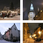 Tallinn Old Town in the winter