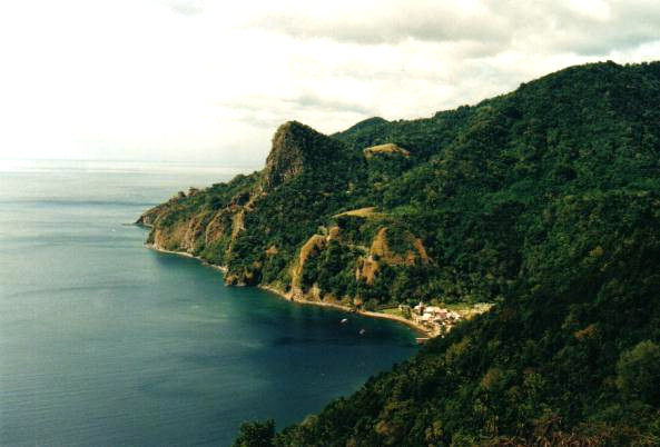 View from Galion to Soufrière, Dominica