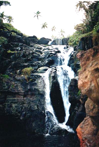 A waterfall in Carib Territory