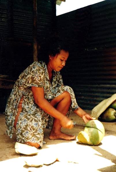 Kookospähkinöiden myyjä, Karibiterritorio