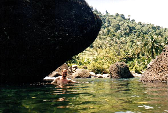 Me swimming in the Pagua River