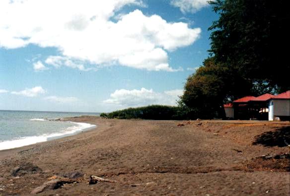La plage de Vieux-Habitants
