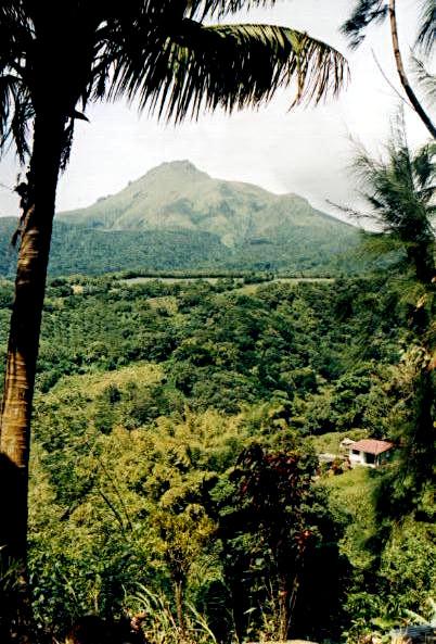 Mont Pelée volcano, Martinique