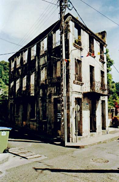 Ruins left from 1902 eruption, Saint-Pierre