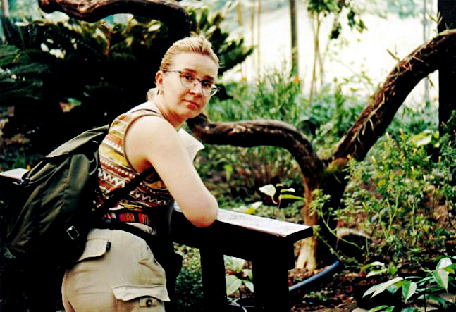 Tiina in a butterfly park