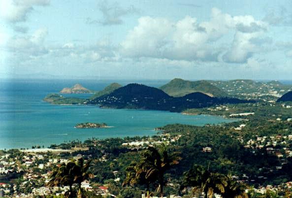 La côte nord-ouest de Sainte-Lucie