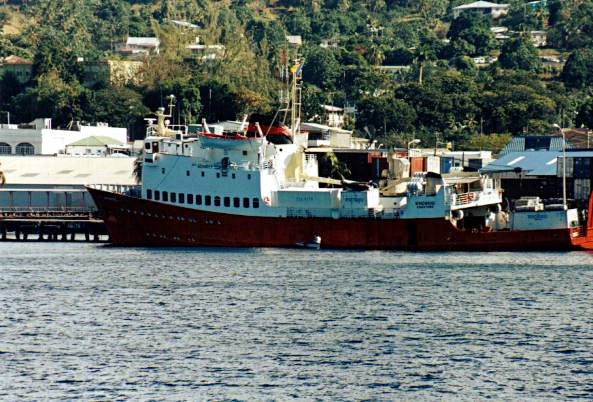 Un bateau de Windward Lines, Kingstown