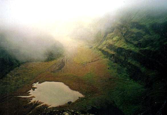 Crater of Soufrière volcano, Saint Vincent