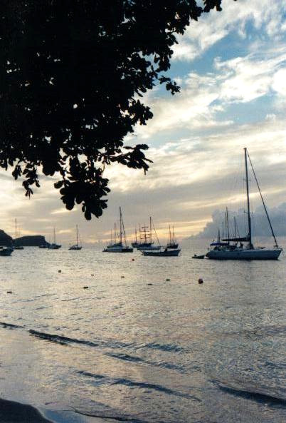Sailing boats at Bequia