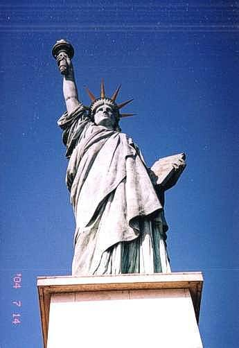 french statue of liberty paris. The Liberty Statue on an