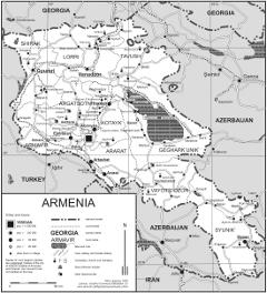 Armenian kartta