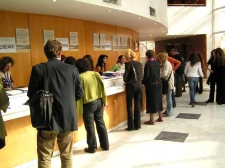 Conference information desk