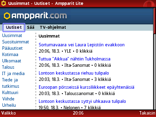 Ampparit ja Opera Mini