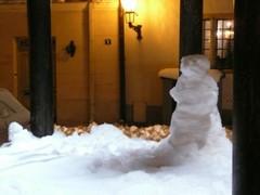 Un bonhomme de neige à rue Rataskaevu